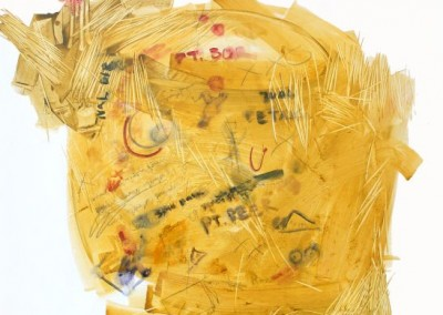 Kuningnya Ide, 100 cm x 100 cm, pensil, cat minyak di kanvas, 2016