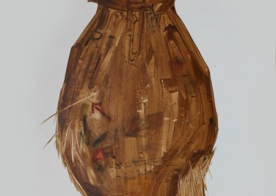 Lumbung Jerami, 100 cm x 80 cm, pensil, cat minyak di kanvas, 2016