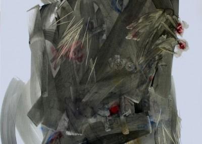 Me mengkhianati I #1, 100 cm x 80 cm, pensil, cat minyak di kanvas, 2016