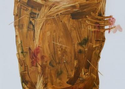 Me mengkhianati I #2, 100 cm x 80 cm, pensil, cat minyak di kanvas, 2016