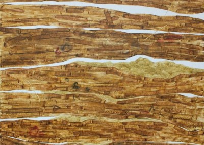 Mobilisasi Harga Diri #1, 100 cm x 100 cm, pensil, cat minyak di kanvas, 2016